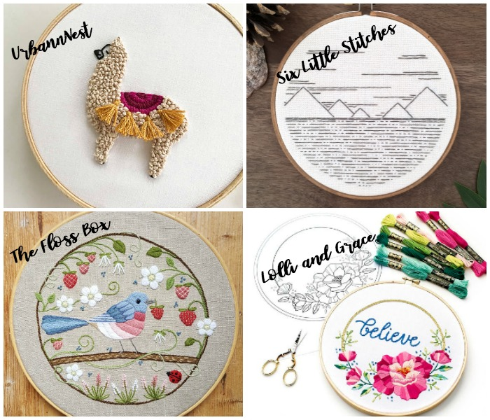 Embroidery Patterns - Best Places to Buy Them: If you love embroidery patterns and love supporting Etsy sellers then you want to check out these amazing embroidery shops. I have put together all of my favorite shops for embroidery patterns and notions. Click through for a full list of shops. | www.sewwhatalicia.com