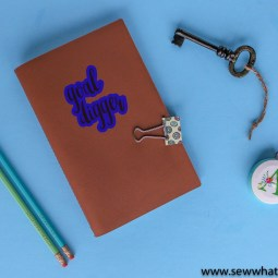 Personalized Leather Journal – DIY with Cricut Maker