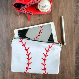 Metal Zipper Pouch Tutorial – Baseball Tablet Case