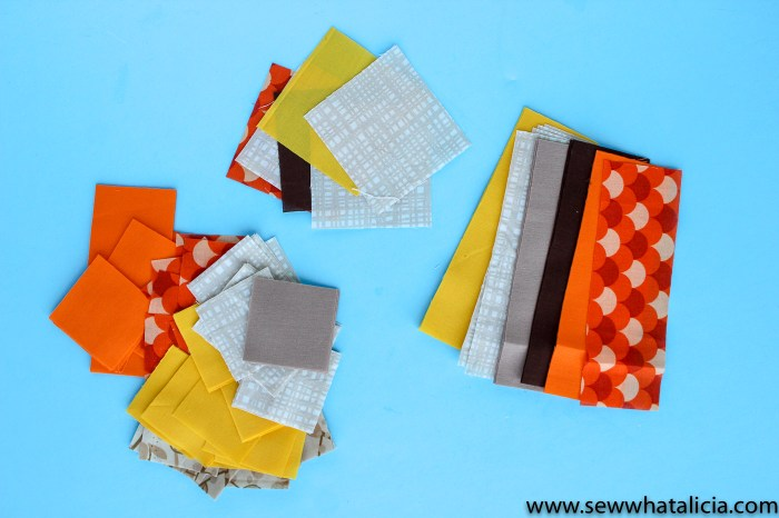 Fall Quilt Block Door Hanging Tutorial: These fall quilt blocks are fun to use to make. Turn it into a door hanger and add some macrame to finish the look. Click through for the full tutorial. | www.sewwhatalicia.com