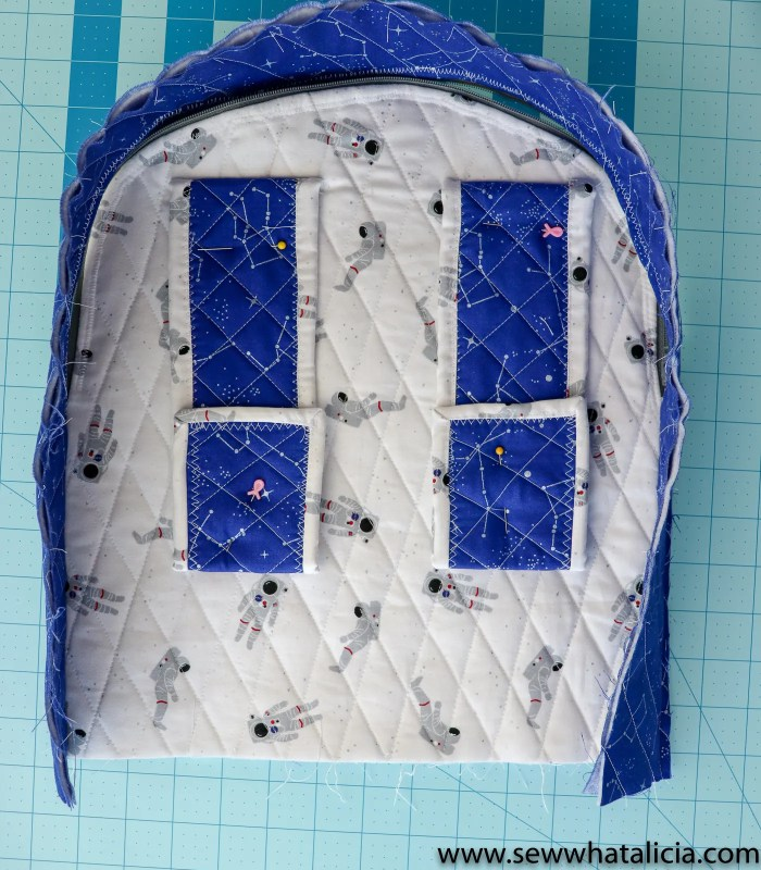 Free Backpack Pattern and Tutorial: This post has everything you need to know to create this quilted backpack. It is the perfect size for your kiddos to take to school. Click through for the free beginner sewing pattern and tutorial. | www.sewwhatalicia.com