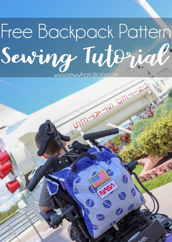 Free Backpack Pattern and Tutorial: This post has everything you need to know to create this quilted backpack. It is the perfect size for your kiddos to take to school. Click through for the free beginner sewing pattern and tutorial.   www.sewwhatalicia.com