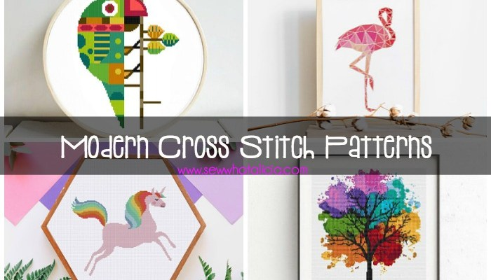 Modern Cross Stitch Patterns: These aren't your grandma's cross stitch patterns. I have put together tons of fun and modern cross stitch patterns for you to create. Click through for the full list.   www.sewwhatalicia.com