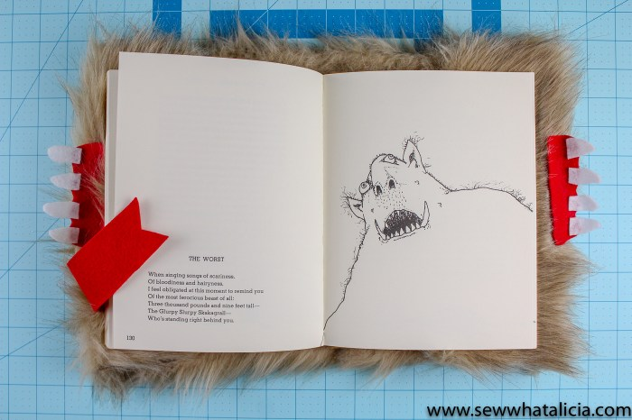 DIY Harry Potter Monster Book: This is a fun and easy no sew project. Create this Harry Potter inspired decor for your Halloween decorations! Click through for the full tutorial. | www.sewwhatalicia.com