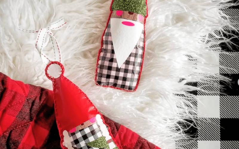 Christmas Gnome Pattern and SVG Cut File