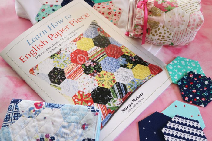 English Paper Piecing: Learn How to English Paper Piece Book with several EPP projects. | www.sewwhatalicia.com
