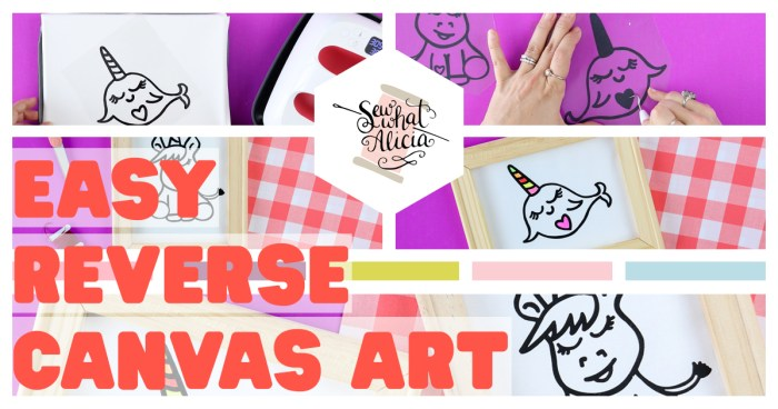 Reverse Canvas Signs Tutorial: These reverse canvas signs are so easy to make and you can customize them tons of different ways. Come see two fun and easy ways to make reverse canvas signs.   www.sewwhatalicia.com