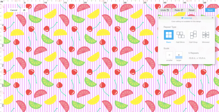 pictured: screen shot of my fabric on JOANN