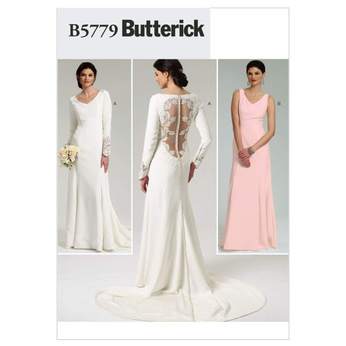 pictured open lace back wedding dress pattern cover
