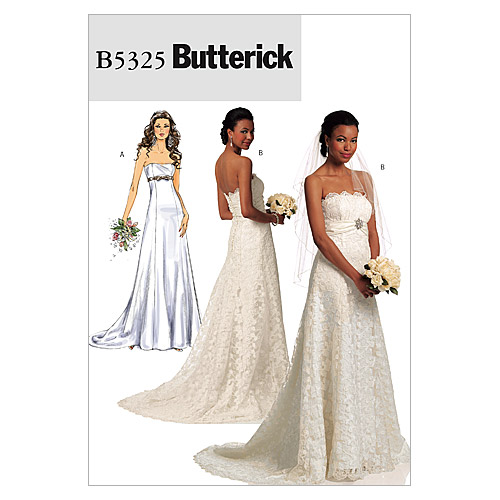 pictured sleeveless wedding dress butterick pattern cover