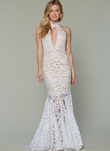 pictured mermaid style wedding dress