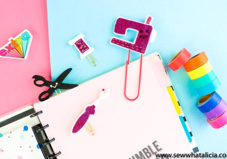 Happy Planner DIY Planner Accessories – Easy Felt Paperclips