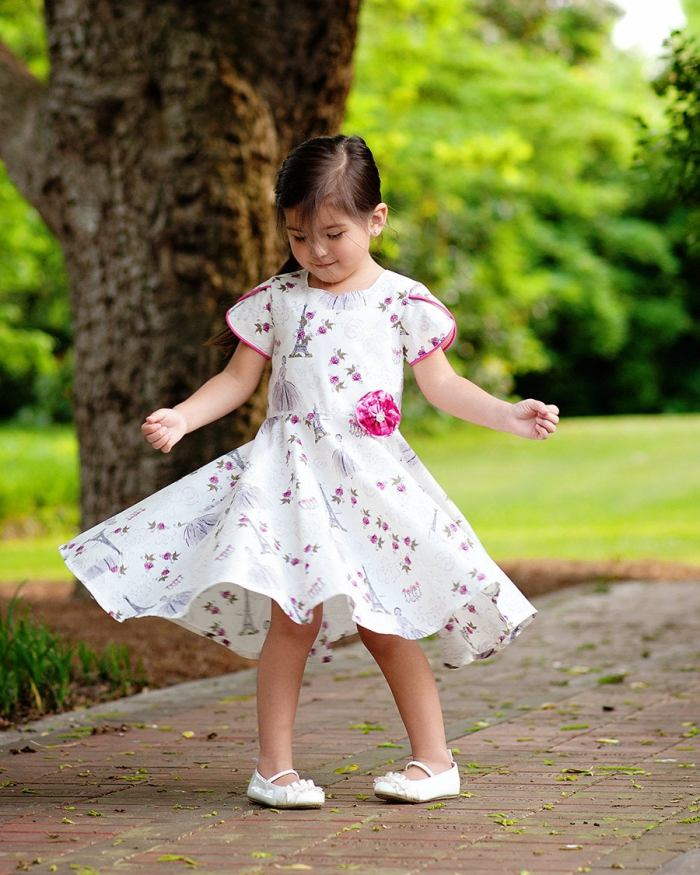 pictured girl in twirly dress