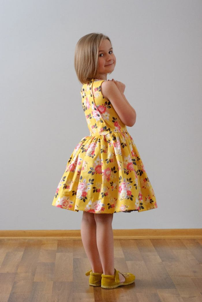 pictured young girl in latona dress