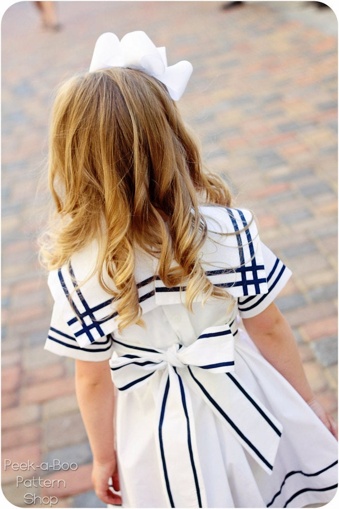 pictured girl in anchors aweigh dress