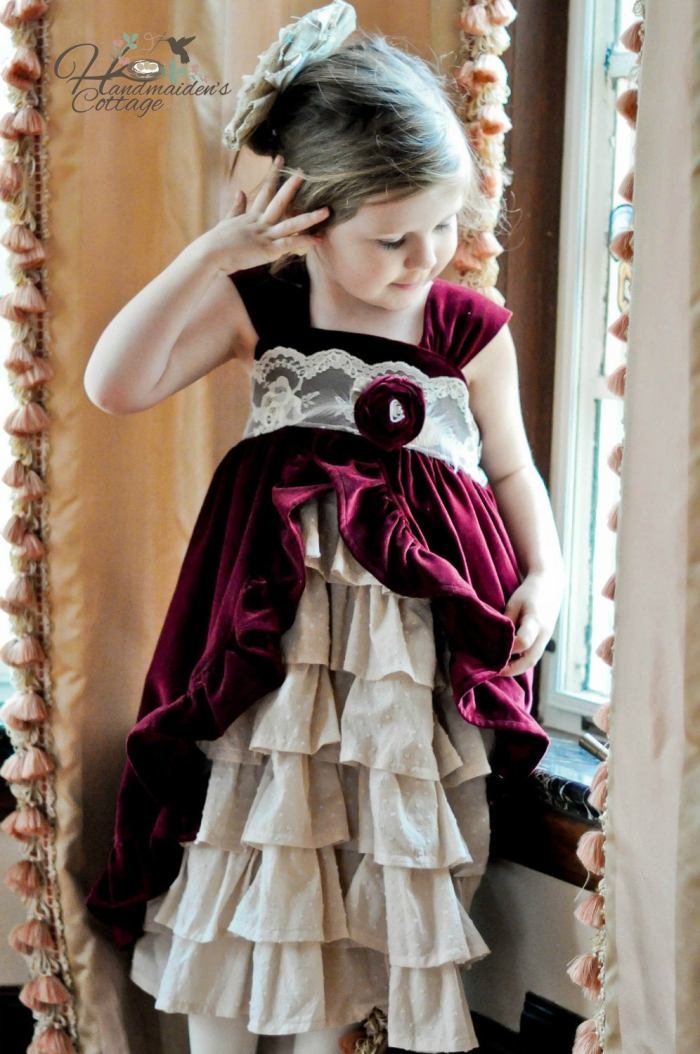pictured girl in teaparty dress
