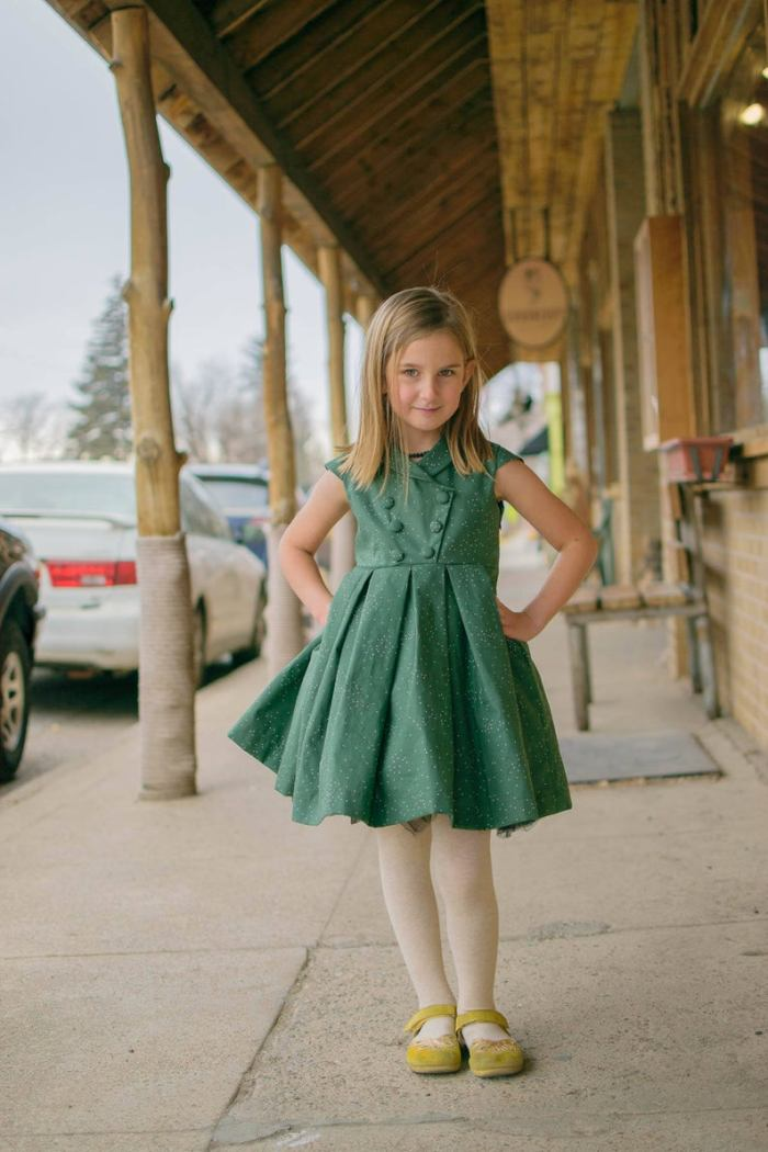 pictured young girl in part dress