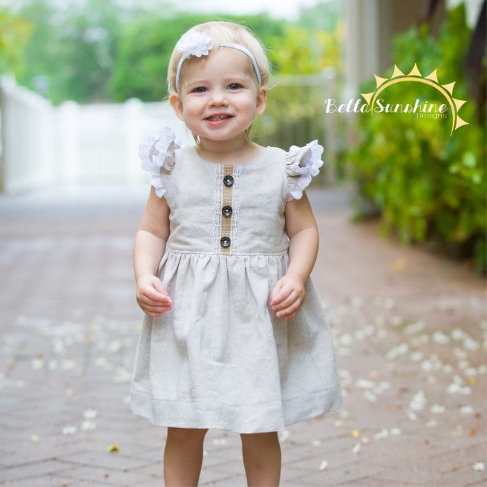 pictured young girl in vintage grace dress