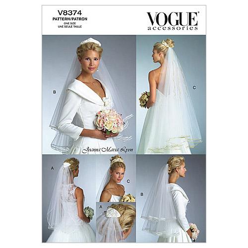pictured vogue bridal veils pattern