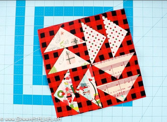 pictured squared quilt block