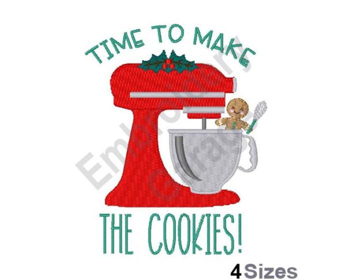 kitchen mixer with saying time to make the cookies