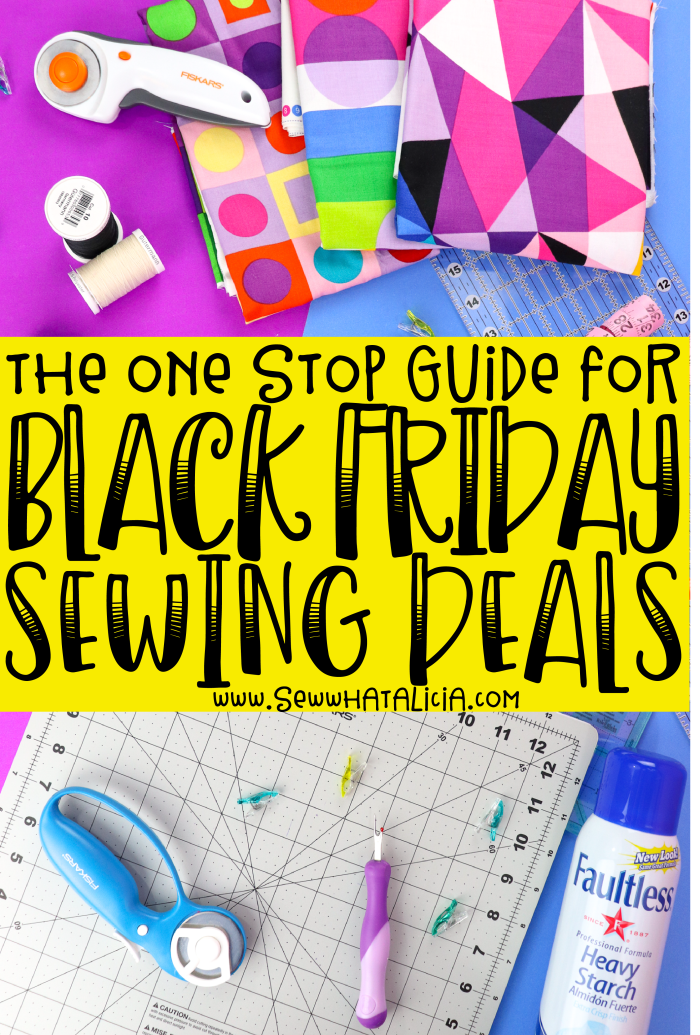 Black Friday Sewing Deals: This post has all the best Black Friday sewing deals. Click through for a huge list of stores with great sewing sales! | www.sewwhatalicia.com