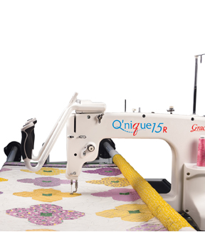 pictured long arm quilt frame and machine