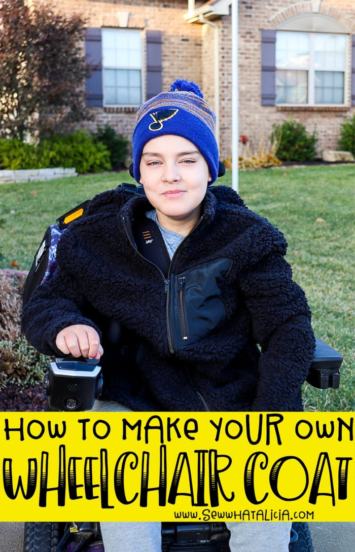 DIY Wheelchair Coat: Create your own adaptive clothing with this easy tutorial. Click through for a full tutorial including a video walkthrough. | www.sewwhatalicia.com
