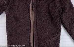 pictured wheelchair coat with finished back