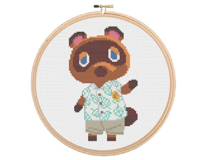 pictured tom nook from animal crossing