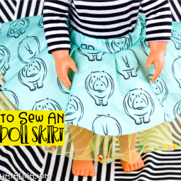 How to Make American Girl Doll Clothes- Easy Skirt
