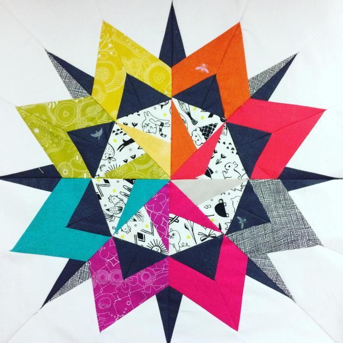 pictured pop star quilt block
