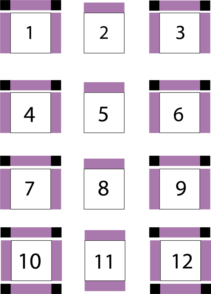 diagram of second step in quilt assembly