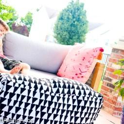 DIY Ottoman Pouf- XL Indoor/Outdoor Cube