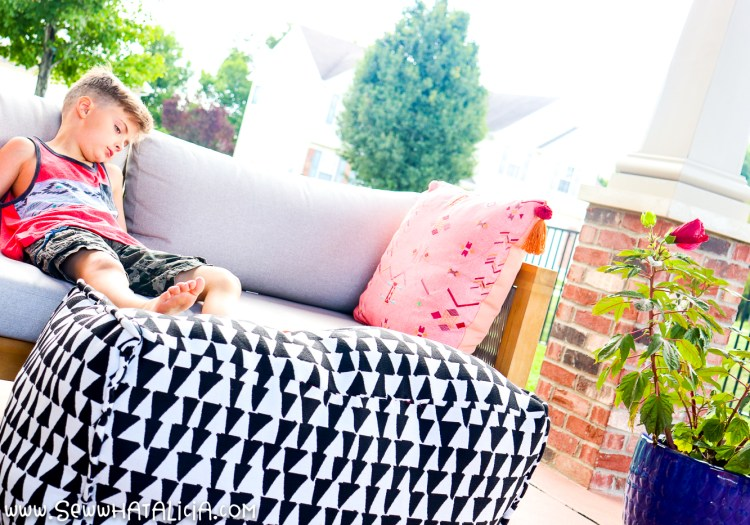 DIY Ottoman Pouf- XL Indoor/Outdoor Cube