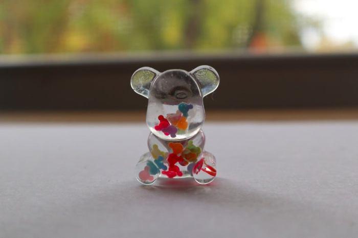 Gummy Bear Pin With Confetti