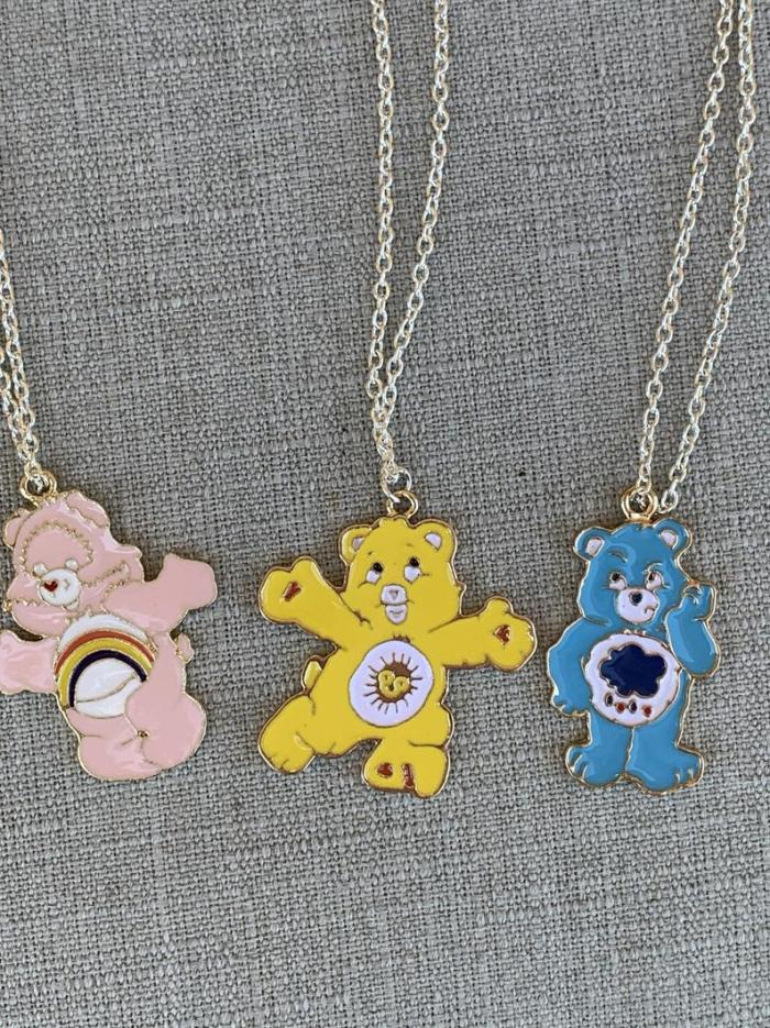 Care Bear Charm Chain Necklaces