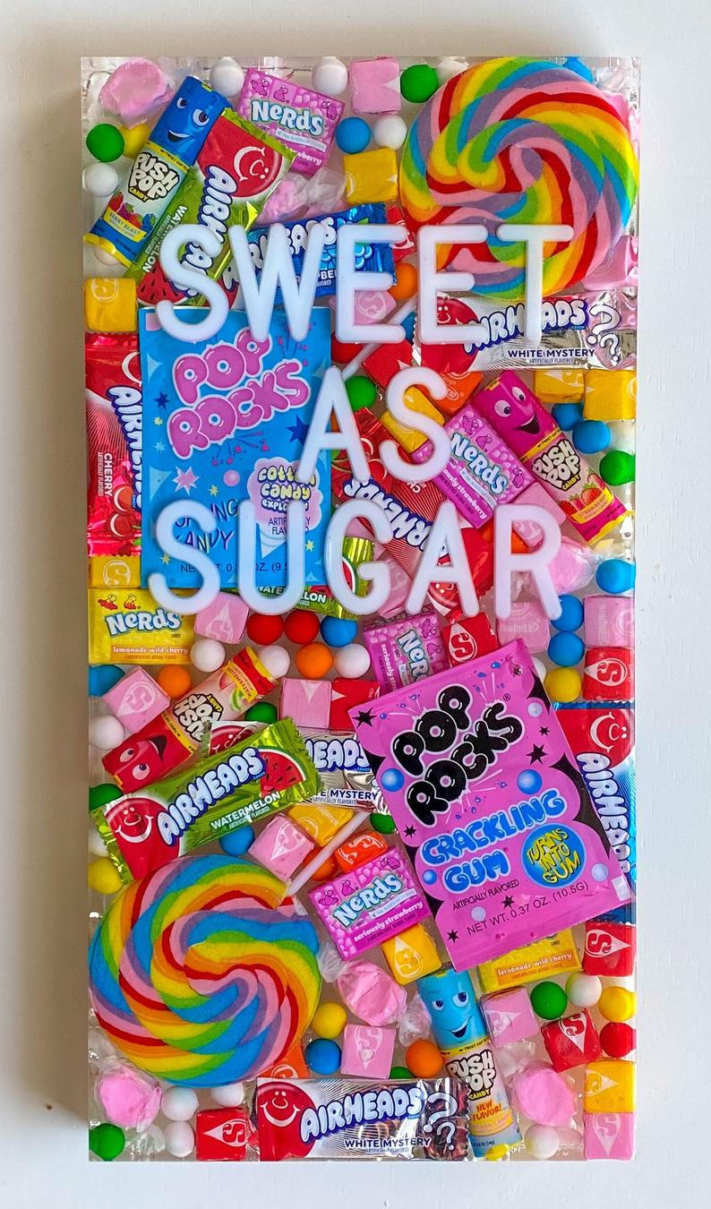 candy wall art