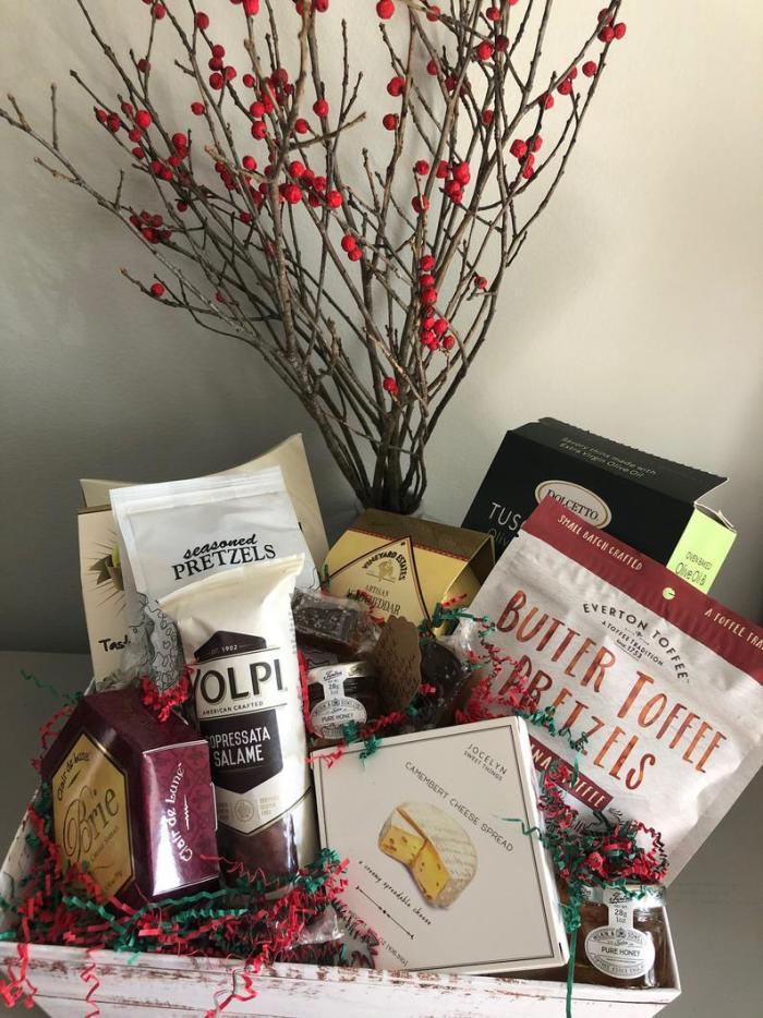 Christmas Charcuterie Gift Basket