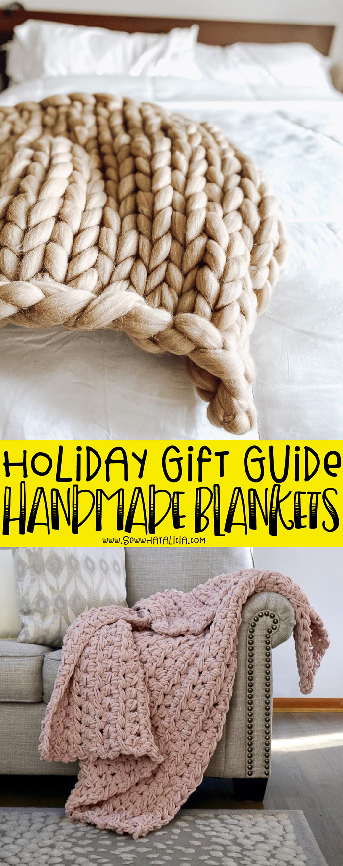 These handmade blankets make wonderful gifts. Sometimes you don't have time, or know how, to make your own blankets. Click through for a huge list of great blankets to give as gifts from small business owners!