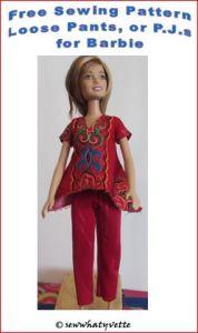 feature loose pants barbie