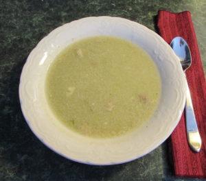 lovage and potato soup