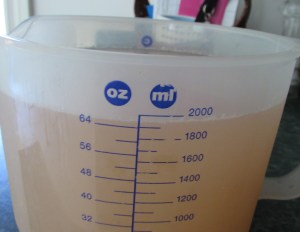 rhubarb juice amount
