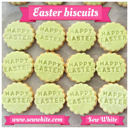 Happy Easter letter stamp biscuits