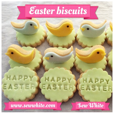 Happy Easter bicsuits and 3D bird biscuits
