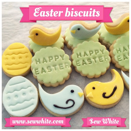 Sew White Easter Word Bird Biscuits 8