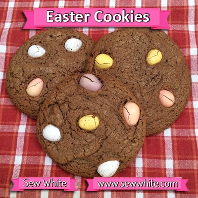 Sew White chocolate Easter mini egg cookies 1