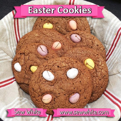 Sew White chocolate Easter mini egg cookies 3