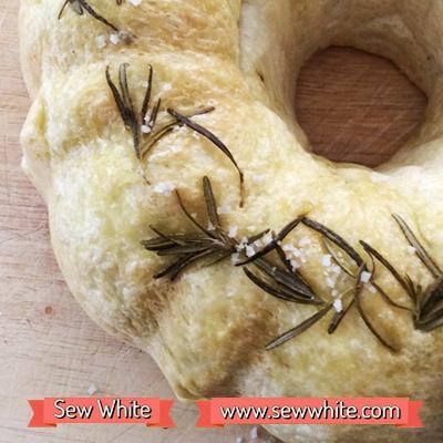 Sew White Focaccia Bundt Bread 6