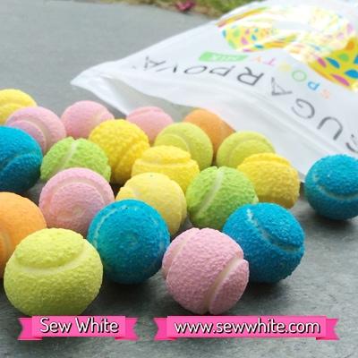 Sew White Sugarpova Sharapova tennis balls sweets 3